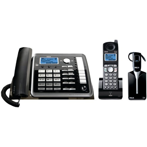 RCA 25270RE3 ViSYS 2-line Corded/Cordless Landline Telephone with Answering System and Headset by RCA