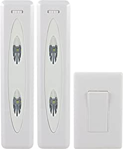 GE 17528 Wireless Remote Control LED Light Bars, White, 2-Pack