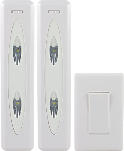amazoncom ge 17528 wireless remote control led light bars white 2 pack home improvement buy ge ge 45613