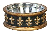 Unleashed Life Chartres Collection – Food and Water Bowl for Pets, Dogs and Cats