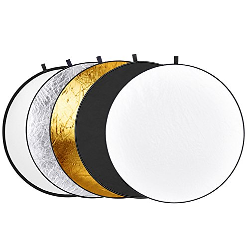 : Neewer 43-inch / 110cm 5-in-1 Collapsible Multi-Disc Light Reflector with Bag - Translucent, Silver, Gold, White and Black