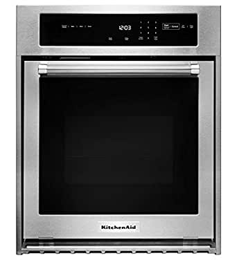 """Stainless Steel Kitchenaid 24"""""""" Single Wall Oven With True CONVEC..."""