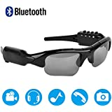 Bluetooth Sunglasses,MOVTEKE Digital Camera Sunglasses Recorder 1080P Hidden Wireless Headphones 4.1 MP3 Player Support Micro SD Card 32GB Smart Phones