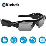 Bluetooth Sunglasses,MOVTEKE Digital Camera Sunglasses Recorder 1080P Hidden Wireless Headphones 4.1 MP3 Player Support Micro SD Card 32GB for Smart Phones