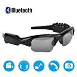 Bluetooth Sunglasses,MOVTEKE Digital Camera Sunglasses Recorder 1080P Hidden Wireless Headphones 4.1 MP3 Player Support Micro SD Card 32GB for Smart Phones