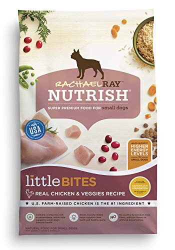 Bites Dry Food - Rachael Ray Nutrish Little Bites Small Breed Natural Dry Dog Food, Real Chicken & Veggies Recipe, 14 Lbs