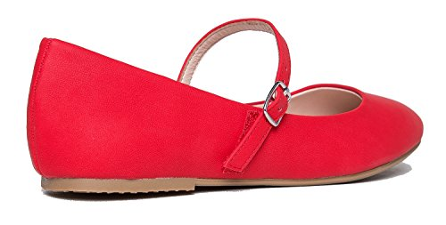 Everyday Lottie On Velcro Pu by Casual Red J Quilted Mary Shoe Ballet Adams Comfort Slip Jane Flat Easy w6Sv4
