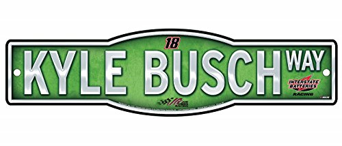 Kyle Busch Official NASCAR 4''x17'' Street Sign by Kyle Busch