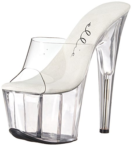 Ellie Shoes Womens 709-vanity Platform Sandal Clear