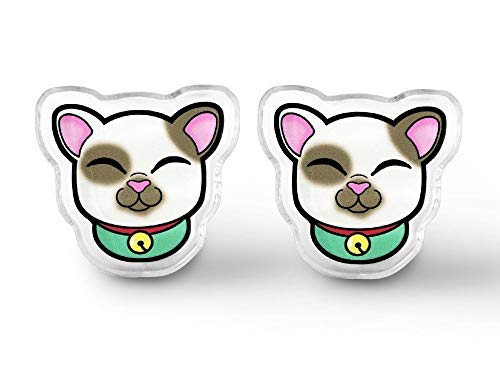Kawaii Lucky Cat Earrings - Kawaii Kei, Cat Lady, Kawaii Cat, Maneki Neko, Soft Grunge, Grunge Cat