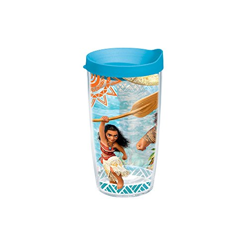 Tervis Disney Moana Adventures 16oz Tumbler with Turquoise Lid, Clear