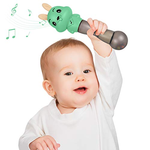 Baby Musical Toy ,TUMAMA 4 in 1 Musical Baby Rattle and Teethers,Infant Developmental Hand Grip Baby Toys for 3 6 9 12 Months and Newborn