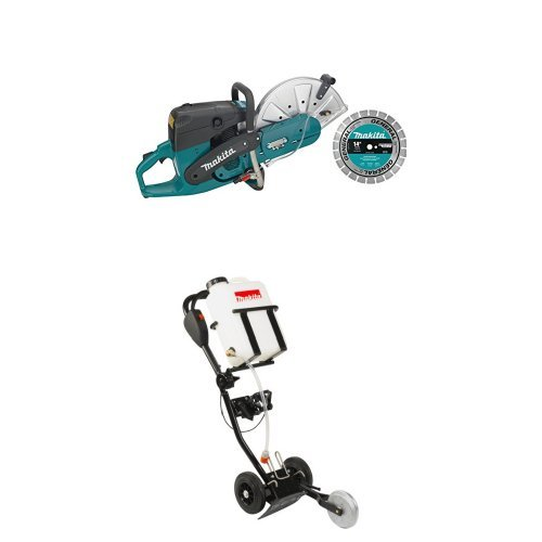 Makita EK7301X1 14-Inch 73 cc Power Cutter with Diamond Blade DT2010 Power Cutter Dolly with 4.2 Gallon Water Tank