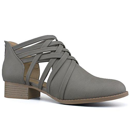 Premier Ankle Pu Toe Multi Grey Women's Bootie Russell Standard Strap Closed gafwxqgU