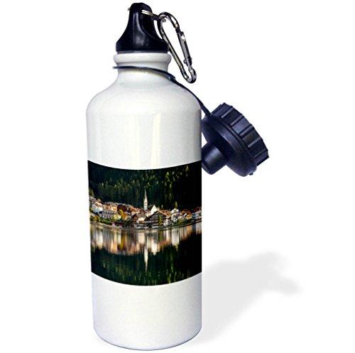 3dRose Danita Delimont - Cities - Village Alleghe at Lago di Alleghe, Dolomites, Veneto, Italy - 21 oz Sports Water Bottle (wb_277625_1) by 3dRose