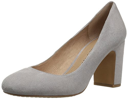 Block Collective 206 Gray Pump Suede Heel Toe Coyle High Women's Round XqZqfd