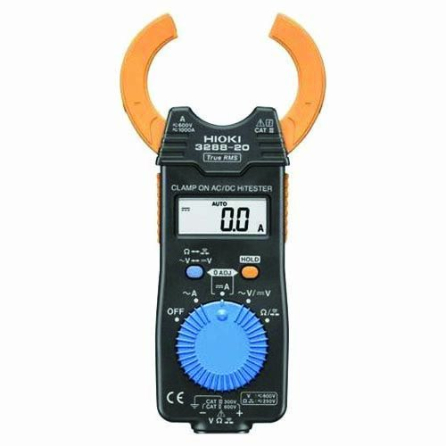 Hioki HiTester 3288-20 Clamp-Meter, 1,000A AC/DC, Conductors to 35mm, Voltage, and Resistance Measurement