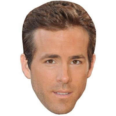 Ryan Reynolds Celebrity Mask, Card Face and Fancy Dress Mask (Celebrity Face Masks)