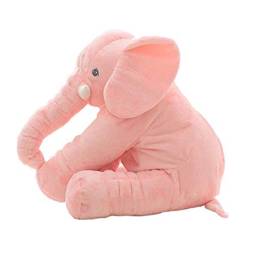 Nunubee Almohada Elefante-Estilo Alimentación del bebé PP algodón Peluche corto sofá almohada decorativa amortiguar, Rosa...