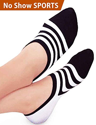 Sock Cocoon (Vero Monte 4 Pairs Women Athletic No Show Socks(Black+Grey,6-7.5) Invisible Socks)