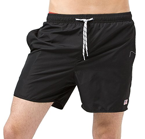 MaaMgic Mens Quick Dry Short American Flag Swim Trunks With Mesh - Usa Warehouse Sale