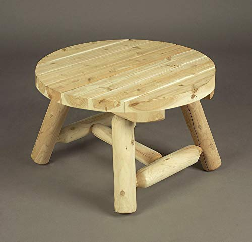 Rustic Table Round Cedar - Cedarlooks 1100009 Log Round Coffee Table
