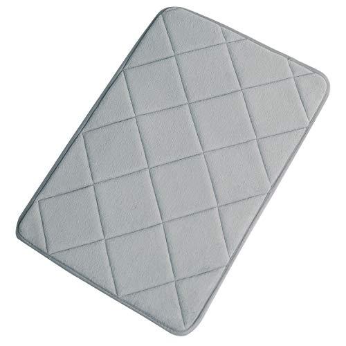 Mini Bath Mat - FINDNEW Non-Slip Soft Microfiber Memory Foam Bath Mat,Toilet Bath Rug,with Anti-Skid Bottom Washable Quickly Drying Bathroom mats (16