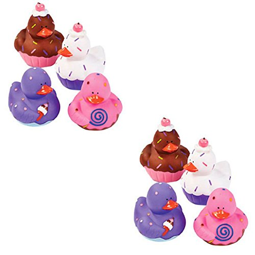 - 24 Sweet Treat Cupcake Ice Cream Rubber Ducks