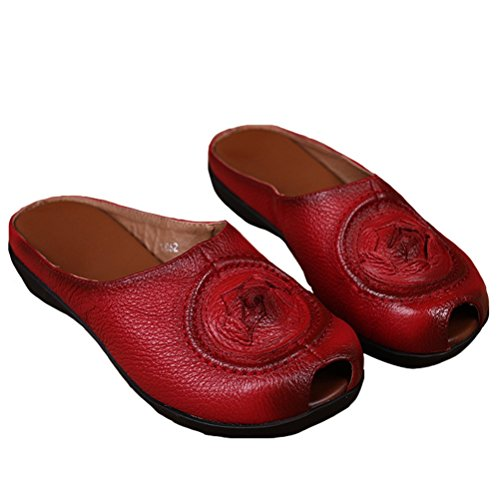 MatchLife - zapatos y pantuflas mujer Style3-Red