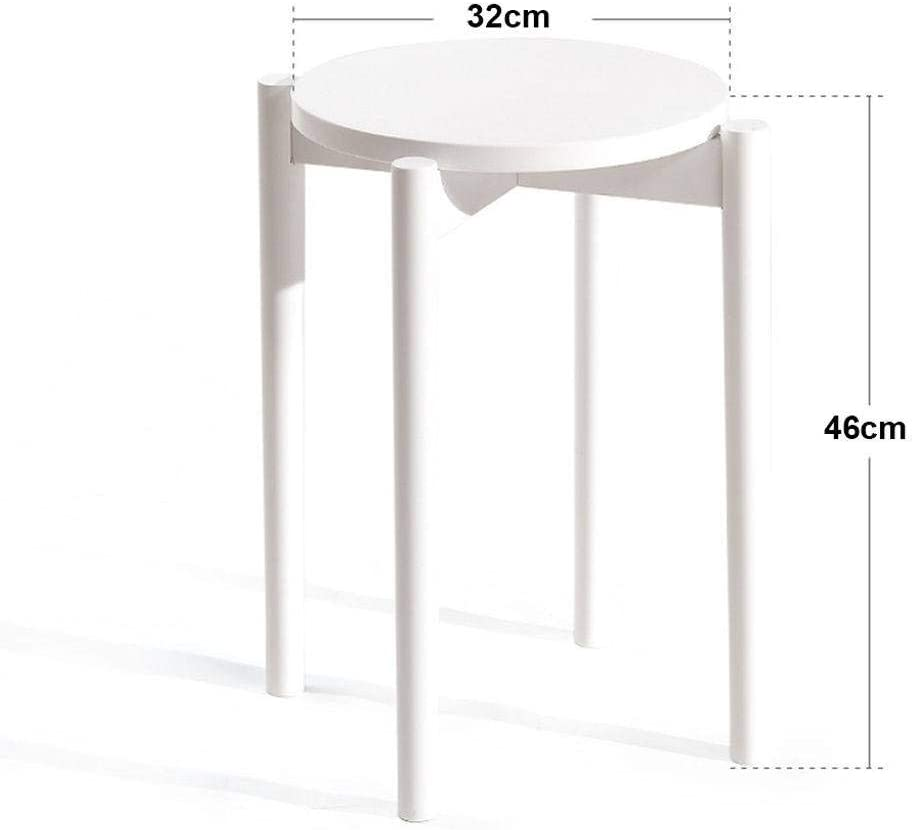 MO&SU Set of 2 Stacking Stool Solid Wood, Fashion Dining Stool Dining Chair -I-Set of 3