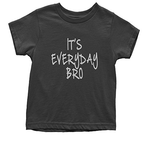 T-shirt White Bro (Expression Tees Youth (White Print) It's Everyday Bro T-Shirt Large Black)