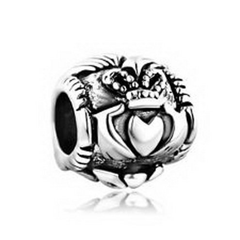 [Dan Smatree The Beads Pugster Charm Bead Irish Claddagh Friendship Love In stock Hard to find Like] (In Stock Hip Hop Costumes)