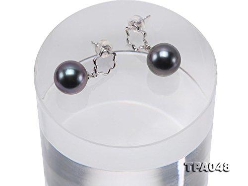Jyx précieux Or 14K 10mm Perle de Tahiti Boucles d'oreilles -- de qualité AAA
