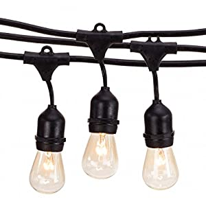 Outdoor String Lights With 15 E26 Sockets By Deneve : Amazon.com : Outdoor String Lights with 15 E26 Sockets By Deneve - 48 Feet Long : Patio, Lawn ...