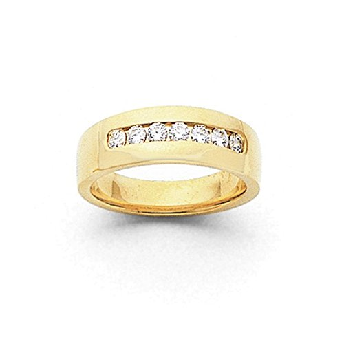 14k AA Diamond Men's Channel Band Diamond quality AA (I1 clarity, G-I color) (Aa Channel Mens Diamond Band)