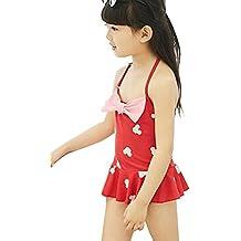KDHJJOLY Soft Girl'S Cute Dot Bow Princess Piece Child Swimsuit Bikini Swimwear Set Hot