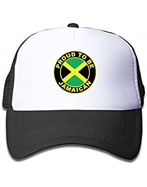 Proud to Be Jamaican Jamaica Flag Youth Toddler Mesh Hats Kid Baseball Trucker Cap
