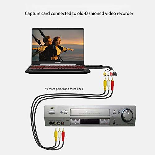 Usb 2.0 Audio/Video Convertitore,Scheda Di Acquisizione Video Usb,Digitalizza E Modifica Video Da Qualsiasi Sorgente Analogica Incluso,Adattatore Video Per Editing