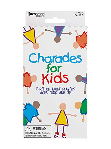 Pressman Toys Charades for Kids Peggable Game 3010-12, Multicolor, 5