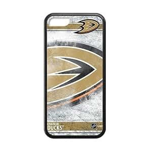 Generic Custom Phone case for Iphone 5C NHL Anaheim Ducks Sign Pattern WANGJING JINDA
