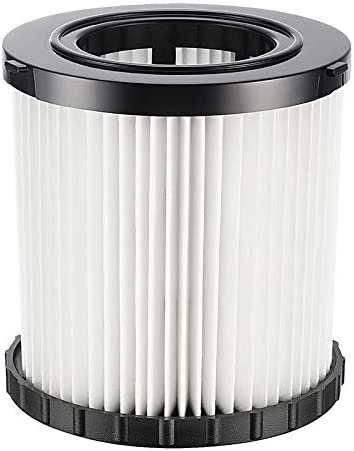 Achort Hepa Replacement Filter for DeWalt DCV580 DCV581H DeWalt DCV5801H Wet Dry Vacuum Replacement Filter Washable and Reusable (with Brush)