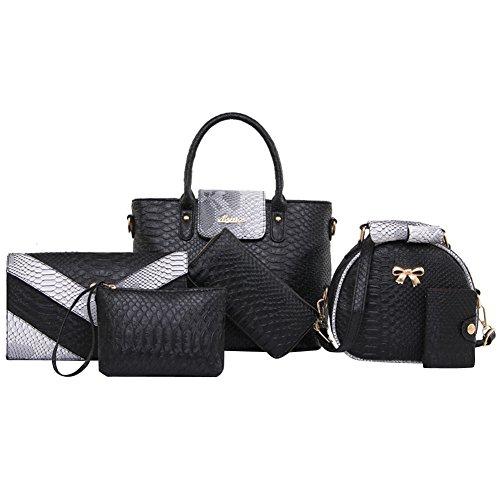 Bzybel Womens Fashion Top Handle Satchel Handbags Shoulder Bag Top Handle  Purse Crossbody Designer Tote Bag 4bfeee792597c