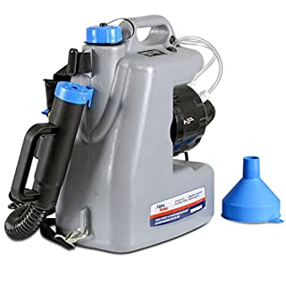 AlphaWorks Fogger Machine Disinfectant Improved Atomizer Corded Back Pack Mist Duster ULV Sprayer 3GAL Mist Blower Adjustable Particle Size 0-50μm/Mm