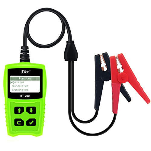 JDiag FasCheck BT-200 Professional Car Load Battery Tester 12V 100-2000 CCA 220AH Digital Battery Analyzer Bad Cell Test Tool for Automotive/Truck/Motorbike Etc(Green) by JDiag (Image #4)