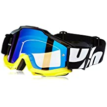 100% Accuri Mirror Lens MX Offroad Goggles Tornado 2/Blue Lens
