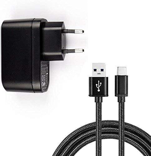 Sweet Tech USBlader oplader 5W ZWARTMicro USBkabel voor Santin Max 4 Pro