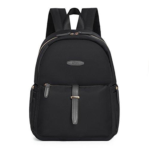 ECOSUSI Mini Campus Backpack for Women Fashion Small Casual Daypack Black