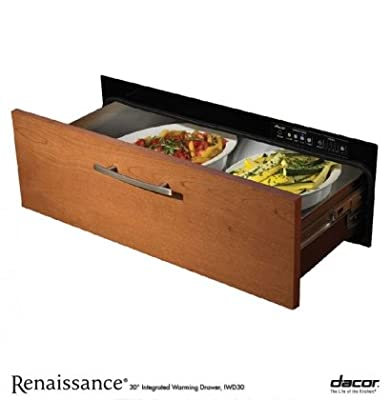 "Dacor IWD30 Renaissance Integrated 30"" Electric Warming Drawer With 500 Watt Heating Element 4 Timer Settings Plus Infinite Mode Blue LED Light Indicator and Requires Custom"