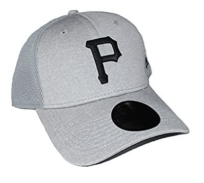 Pittsburgh Pirates Adjustable Hat Cap - OSFA Gray by New Era Cap Company, Inc.