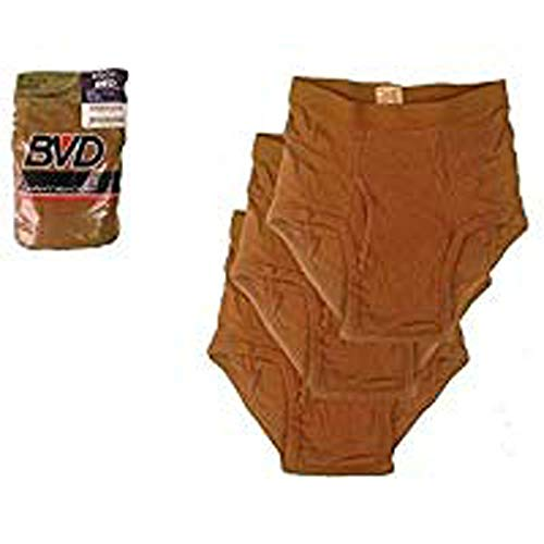 (BVD US Military Brown Cotton Briefs, 3 Pack (38))